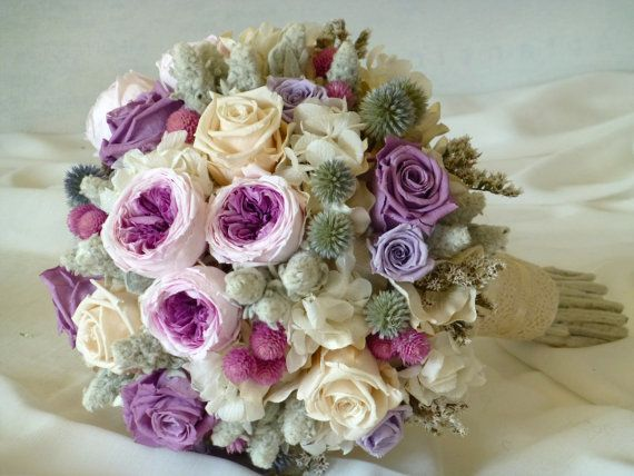 Victorian Lilac Bridal Bouquet Natural Preserved Flowers Bride 39 S Bou