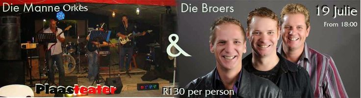 Plaasteater in Cape Town (Musical Venue): The Broers and The Manne Band at Plaasteater (Near...