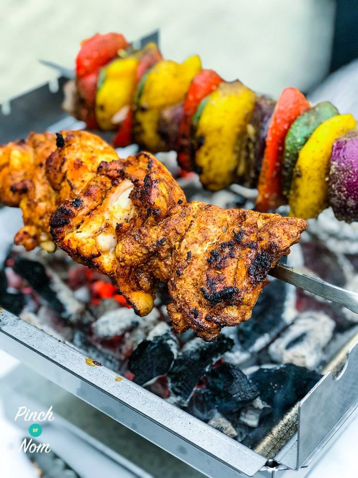 Our Facebook group has been inundated with lots of you making these Syn Free Chicken Gyros Kebabs! They're the perfect Slimming World Chicken Kebab.