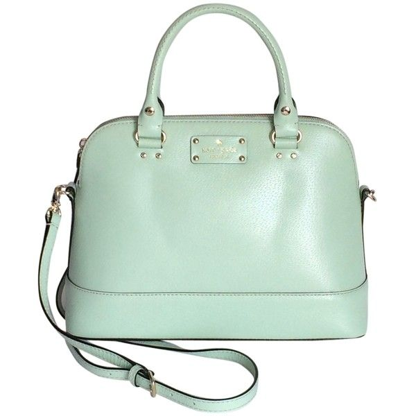Pre-owned Kate Spade Small Rachelle Wellesley Mint Mojito Satchel found on Polyvore featuring polyvore, women's fashion, bags, handbags, mint mojito, handbag satchel, kate spade satchel, mint green crossbody purse, crossbody satchel and kate spade handbag