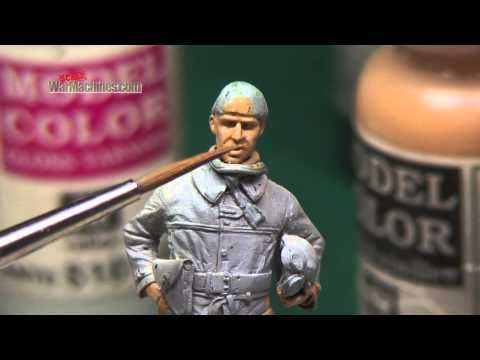 PAINTING FIGURES' FACES VIDEO | Scale War Machines - Model Making Videos, Articles & Archive Films