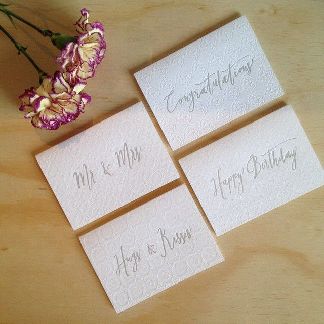 B E S P O K E // we have a large selection of cards for every occasion. These letterpress cards are designed and printed in Australia #birdsofafeatherco #cards #letterpresscards #happybirthday #weddingcards #congratulations #hugsandkisses #handmade #madeinaustralia #bespoke #ilovepaper