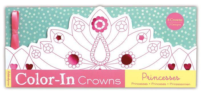 CORONAS DE PRINCESAS PARA COLOREAR 8 Coronas de princesas y dos diseños para colorear a tu gusto. Incluye además sus lazos para poder ponértelas. Menuda fiesta de princesas puedes hacer con tus amigas!!. Están impresas con tintas no tóxicas basadas en la soja y es un producto libre de phatalate. +3 años. PVP: 17,60 € #coronasprincesas #manualidadesparapintar http://www.babycaprichos.com/cornonas-de-princesas-para-colorear.html