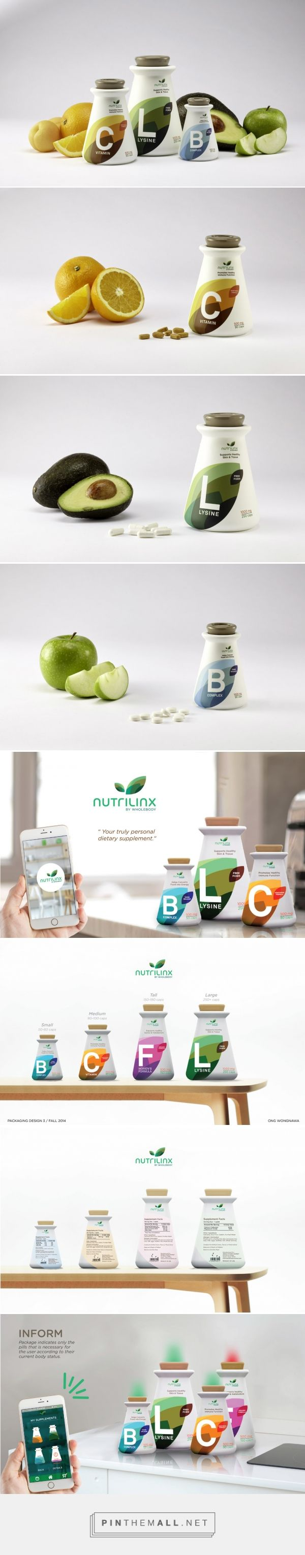 The Dieline Awards 2015: 3rd Place Student- Nutrilinx Dietary Supplements
