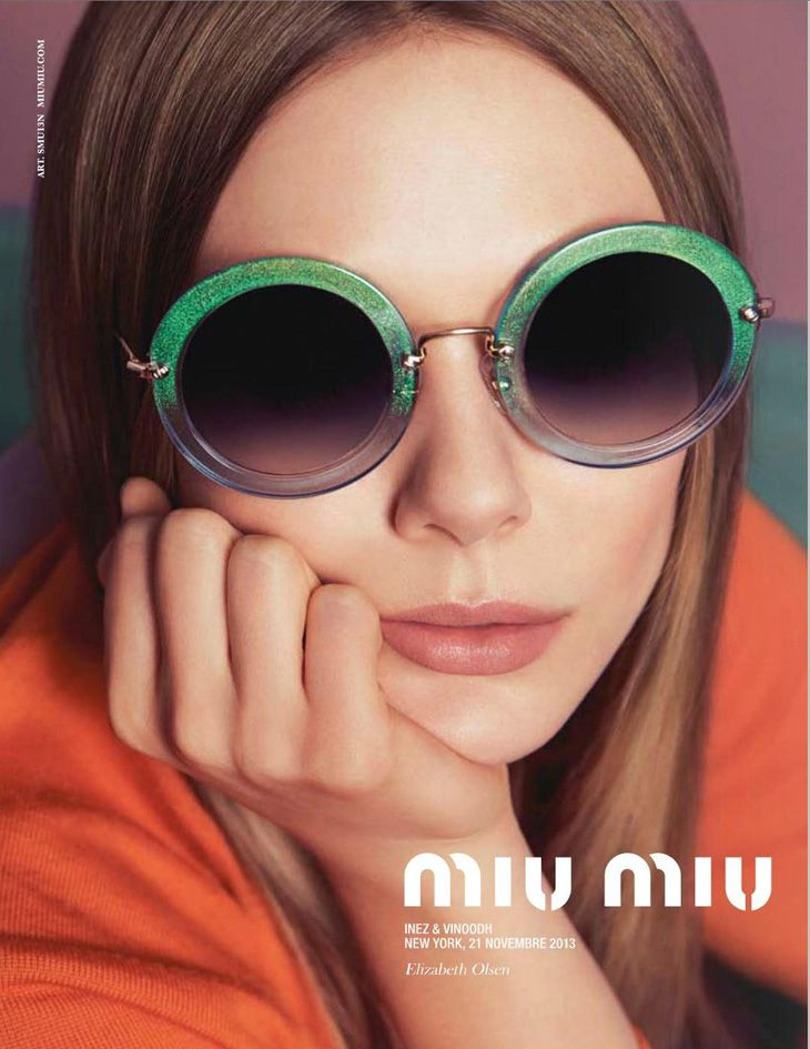 Miu Miu Eyewear S/S 2014 | Elle Fanning, Bella Heathcote, Lupita Nyong'o e Elizabeth Olsen