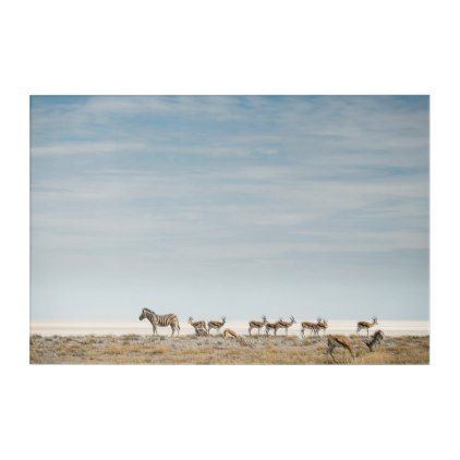 Plains Zebras   Equus Burchellii Acrylic Wall Art - plain gifts style diy cyo