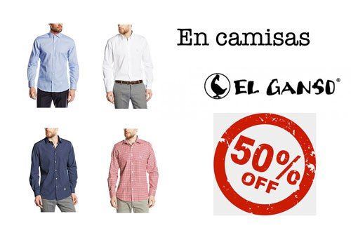 Camisas El Ganso rebajadas con un 50% de descuento