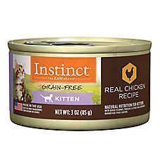 Nature's Variety® Instinct® Grain Free Kitten Food - Natural, Chicken  https://www.petsmart.com/cat/food-and-treats/wet-food/natures-variety-instinct-grain-free-kitten-food---natural-chicken-42128.html?cgid=200170 #naturalcatfood #catfoodtreats #wetcatfood