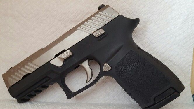 Sig 320, 9 mm, compact with Robar's NP3 Plus finish on all ...