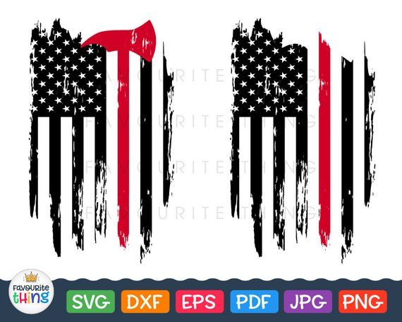 Firefighter Thin Red Line Axe Flag Fire Car Window Decal Laptop Vinyl Sticker