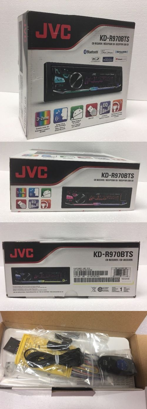 Car Audio In-Dash Units: Jvc Kd-R970bts Cd Player Bluetooth Iphone Pandora Iheart Usb Aux Car Receiver -> BUY IT NOW ONLY: $97.99 on eBay!