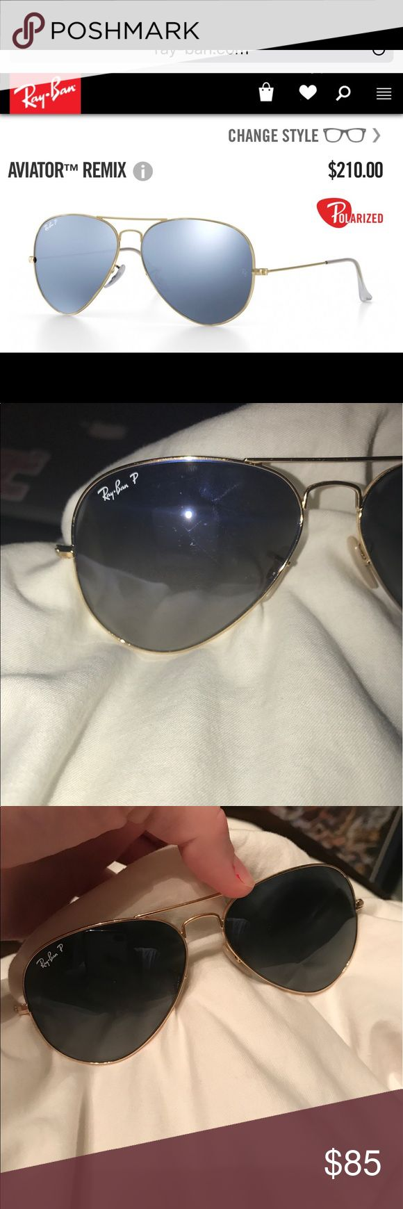 ray bans ray ban aviators, standard size, polarized, used but in great condition, see photos! Paid $210, asking $85! Ray-Ban Accessories Sunglasses