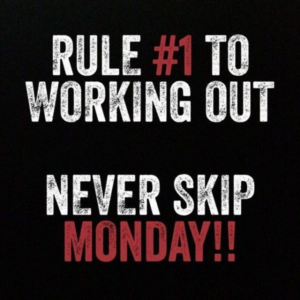 Never skip monday! Gym motivation.