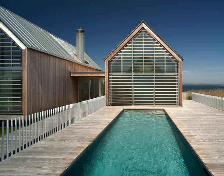 Ocean House by Roger Ferris and Partners. The pool is protected from the ocean winds by the house itself.