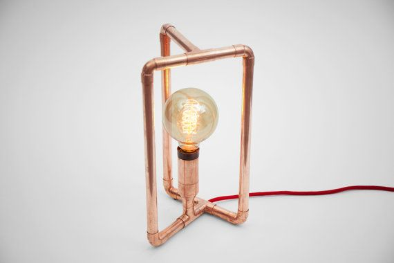 TRIBO Copper Table Lamp by Zapalgo on Etsy