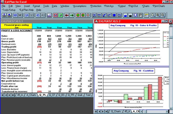 Business plan projections for new/substantial businesses (e.g. sales $3m plus). Ideal for preparing business plans, budgets, strategic planning, raising finance etc. Based on user's assumptions, Exl-Plan generates fully-integrated seven-year projections (P, cashflow statements, balance sheets, ratio analyses etc.) on a monthly basis for initial three years and quarterly thereafter. Other versions and editions also available. Running as an Excel template, Exl-Plan contains 200+ special menu op