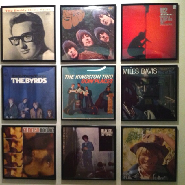 Record Album Art Wall