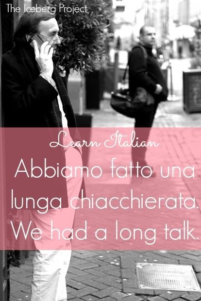 Learn Italian: Abbiamo fatto una lunga chiacchierata. - We had a long talk.
