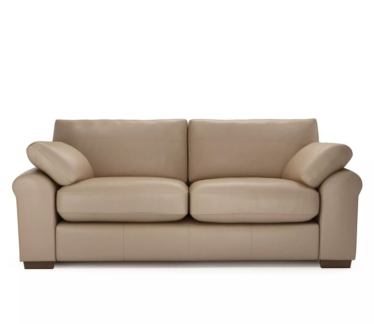 The Lounge Co. - Sophia 3 Seater Sofa in Smooth Leather - Mushroom  https://www.theloungeco.com/configurator/design/?style=Sophia_Sofas&size=30&cover=SMO111&feet=WO  #trend #interiordesign #interiorinspiration #home #homedecor #neutral #cream #beige #white #ecru #taupe #oyster #mink #grey #sofa #chair #footstool #cushion #lounge #livingroom #design