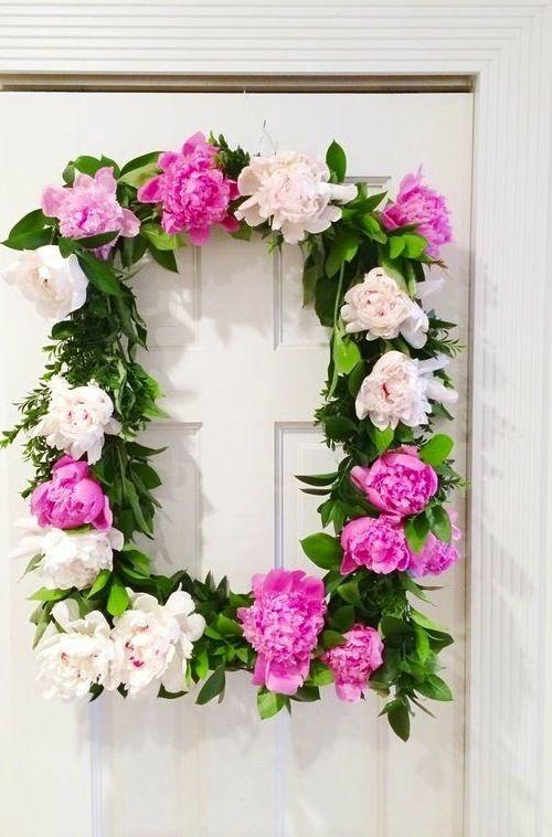 How to make a peony wreath