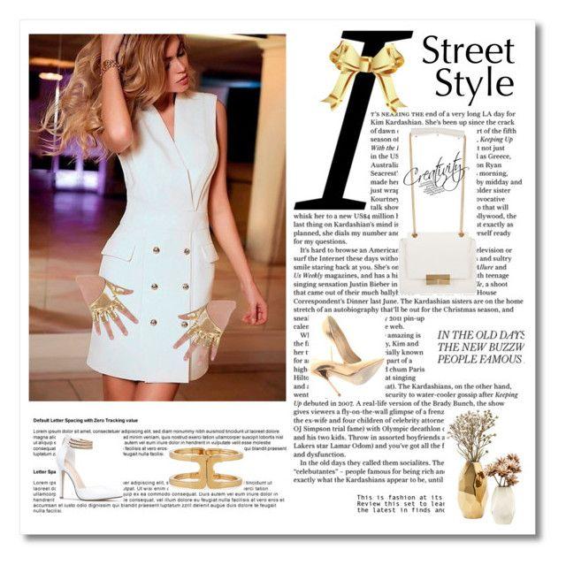 """Dress"" by sinitsa58 ❤ liked on Polyvore featuring Tory Burch, J. Mendel, GANT, Nate Berkus, Giuseppe Zanotti, dress, shoes, bag, bracelet and gloves"
