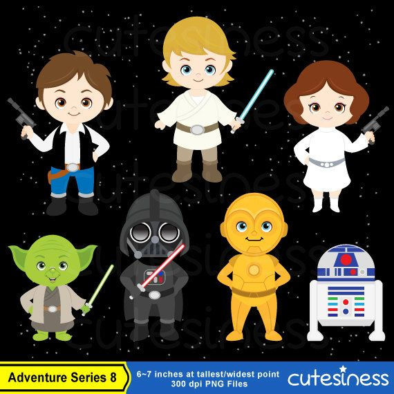 Star Wars Digital clipart Star Wars Clipart Star by Cutesiness