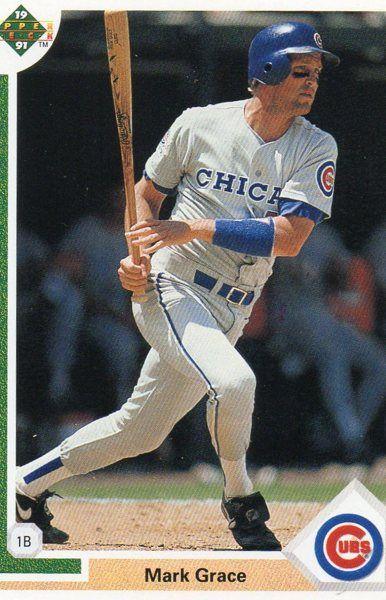 1991 Upper Deck Baseball Card Cubs Mark Grace