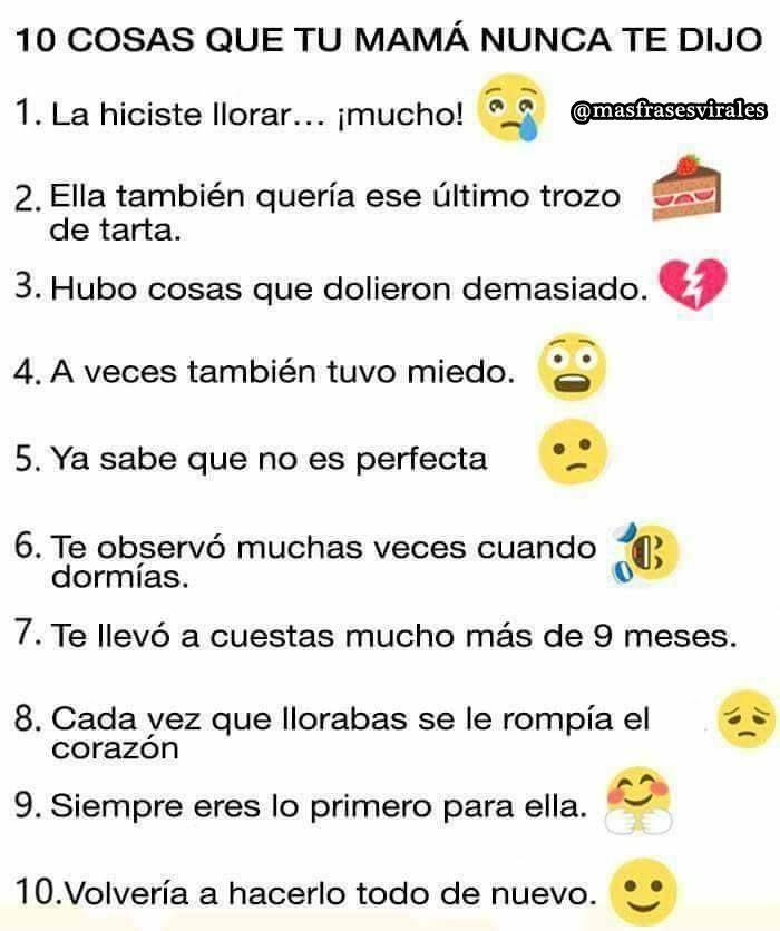 10 Cosas Que Tu Mama No Te Dijo Frases Imagenes Amor Tumblr Love Instagram Posts Gero