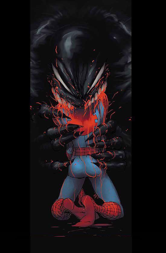 Venom vs Spiderman by Kaare Andrews