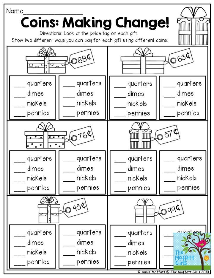 Coins: Making Change! This is a great activity for 2nd Grade. This practical life exercise would hopefully help children understand expenses when Christmas shopping!