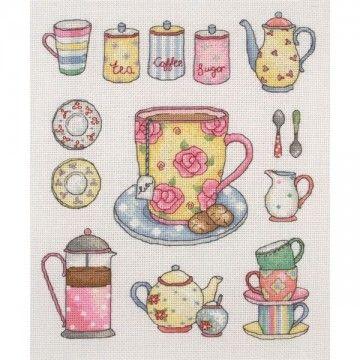 Borduurpakket Thee en Koffie - Anchor