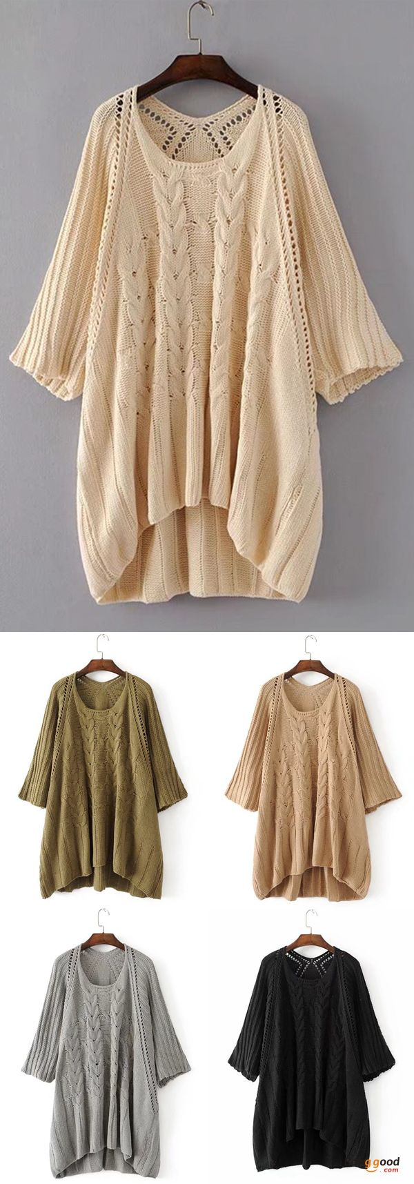 US$38.98 + Free shipping. Fall in love with elegant and casual style! Plus Size Vintage Women Hollow Loose Knitted Sweaters.
