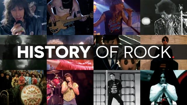 A History of Rock in 15 minutes.  348 rockstars, 84 guitarists, 64 songs, 44 drummers, 1 mashup.  Download audio version: http://bit.ly/1W5YMyO http://www.ithacaaudio.com  http://www.facebook.com/ithacaaudio http://www.twitter.com/ithacaaudio  Tracklist  Elvis Presley - Jailhouse Rock The Yardbirds - For your Love The Rolling Stones - Honky Tonk Women The Rolling Stones - (I Can't Get No) Satisfaction Cream - Sunshine of your Love Led Zeppelin - Whole Lotta Love Led Zeppelin - ...