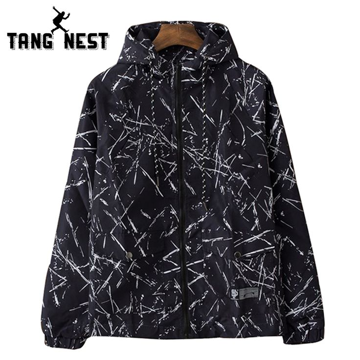 >> Click to Buy << TANGNEST Hoded National Printing Men's New Arrival Jackets Young Fashion Blackj White Asian Size Windbreak Jackets MWJ2215 #Affiliate