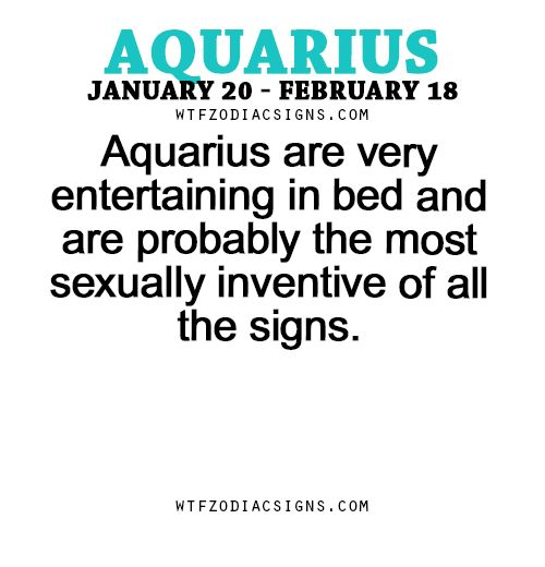 Aquarius are very entertaining in bed and are... - fun zodiac ...