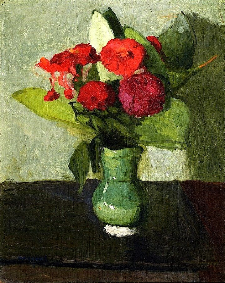 Bouquet of Flowers in a Green Vase by Albert Marquet (France)