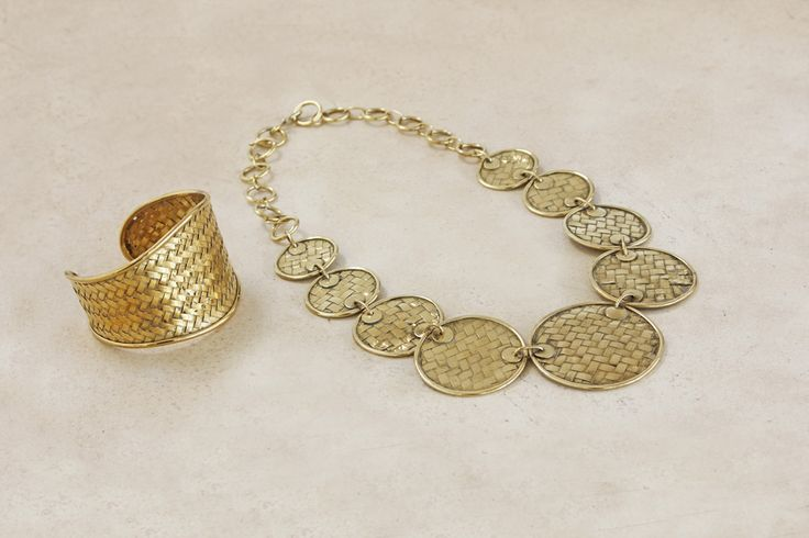 Tikar Brass Bracelet and Necklace