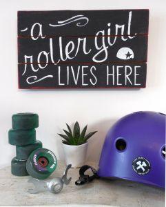 A roller girl lives here
