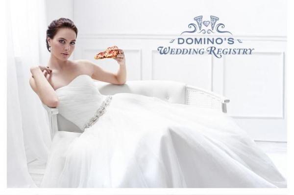 Domino's Pizza Valentine's romance with online wedding registry