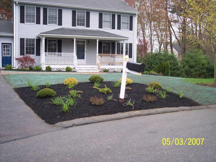 30 best front yard landscape construction images on for Front yard planting beds