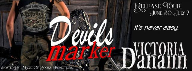 DEVILS MARKERSons of Sanctuary MC Austin Texas Book 4by Victoria Danann  Genre: MC Contemporary Romance (hot heat level)  The Waco Texas Marauders MC is on the verge of war.  New arrivals Stars and Bars MC are engaged in activities too nefarious for even the notorious Marauders.  New SSMC member Win Garrett is planted inside to get information and fill a marker owed by the club.  New York Times and USA Today bestselling author Victoria Danann adds a bit of grit and reality to the runaway hit…
