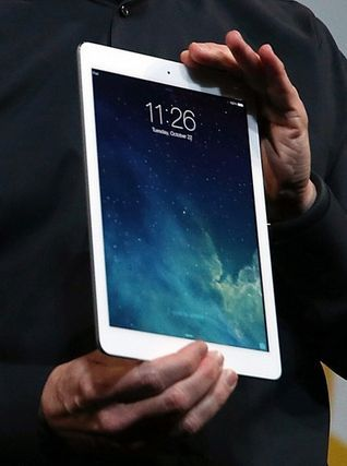 white iPad case.