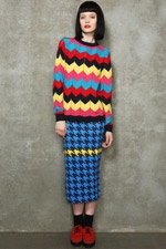 House Of Holland Zig-Zag Jumper and Houndstooth skirt  #uostyle