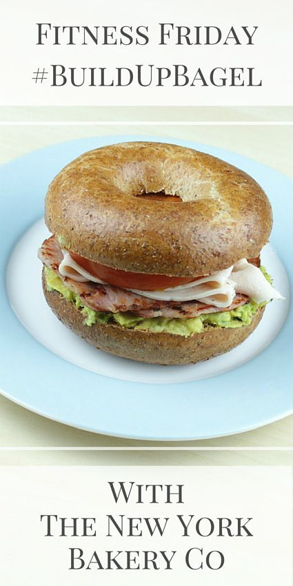 This is the Bacon, Avocado, Turkey and Tomato Bagel -  a delicious, nutrient-packed recipe for a New York Bakery Co #BuildUpBagel (ad)