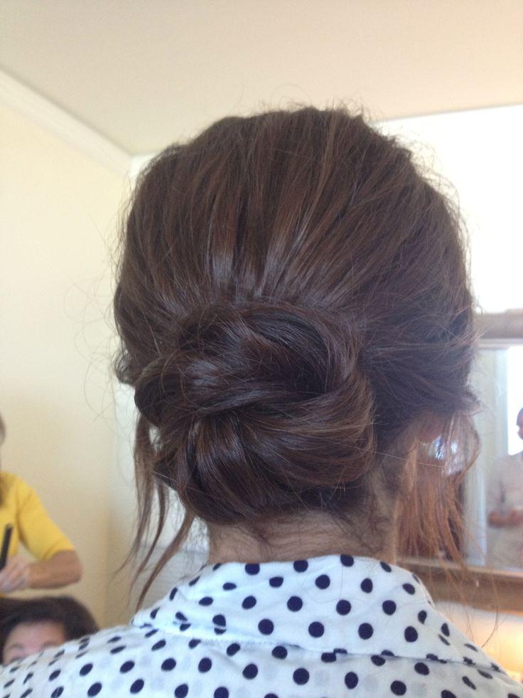 Easy low Bun - Loose bun hairstyle - YouTube