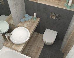 Aranżacje wnętrz - Łazienka: Sposób na małą łazienkę - Mała łazienka w bloku bez okna, styl skandynawski - LUDWEE Pracownia Architektury Wnętrz. Przeglądaj, dodawaj i zapisuj najlepsze zdjęcia, pomysły i inspiracje designerskie. W bazie mamy już prawie milion fotografii!