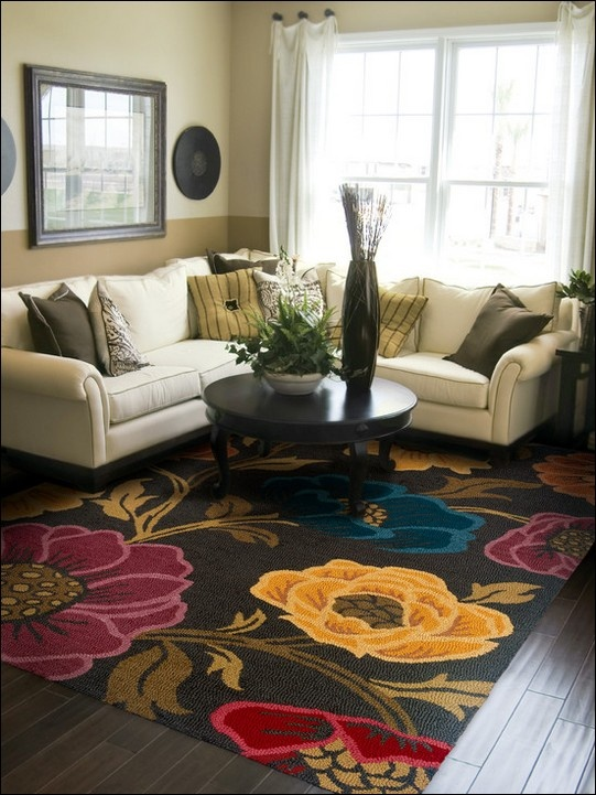 Eden Chocolate Floral Hand Tufted Wool Area Rug Want To Find Similar Non One W This Design
