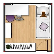 Layout - Girl´s Bedroom in blue&lila