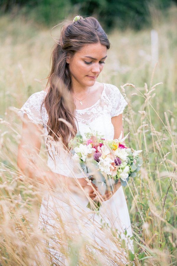 Swedish Countryside Wedding Bride