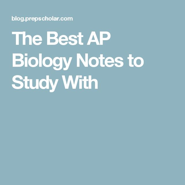 The Best AP Biology Notes to Study With